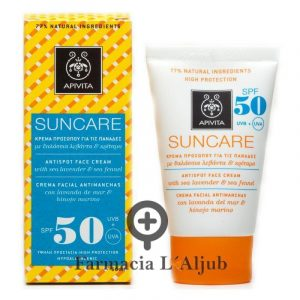 Apivita Suncare solar facial antimanchas SPF 50 50ml + Regalo